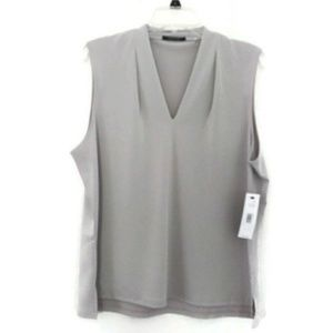 Tahari NWT sleeveless gray top XL